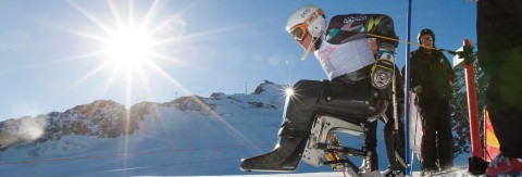 Europacup Rennen der Handicapped Skisportler