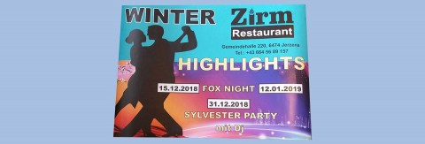 FOX NIGHT im Restaurant Zirm - Jerzens