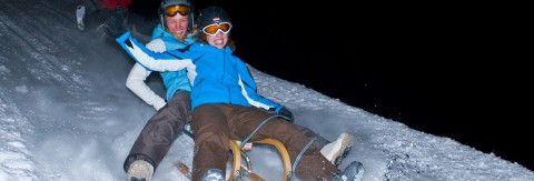 tobogganing evening