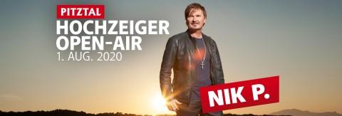 Hochzeiger Sommeropenair mit Nik P. & Band am 01.08.2020