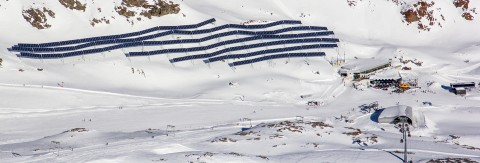 Europe's highest photovoltaic plant can be found on Pitztal Glacier