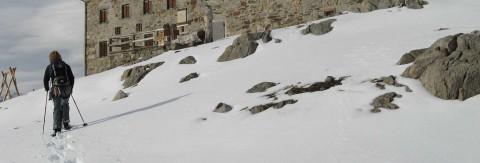 Gletscherwanderung mit Schneeschuhen zur Braunschweiger Hütte