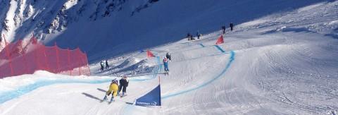 Österreichische Meisterschaften & Europacup Rennen Skicross und Snowboardcross