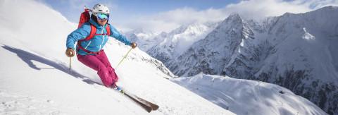 Skistart am Rifflsee
