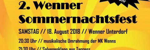 2. Sommernachtsfest in Wenns der Wenner Vereine