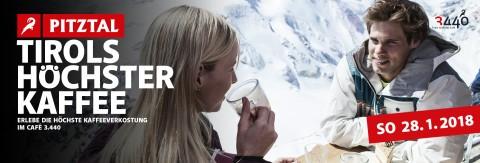 Kaffeeverkostung im Café 3440 am Pitztaler Gletscher