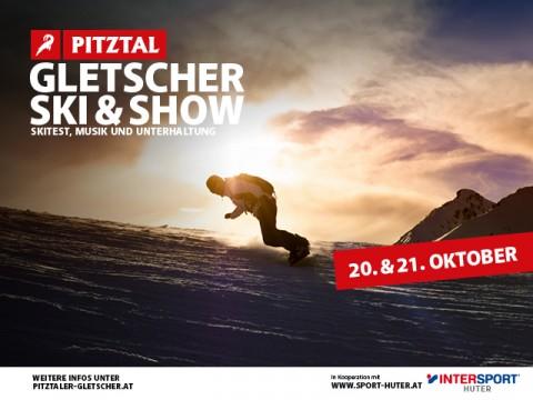 Gletscher Ski und Show