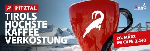 Tirols höchste Kaffeeverkostung im Café 3.440